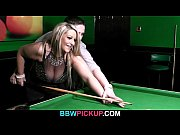 Busty hottie is screwed on the pool table