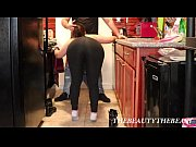 White Ankle Socks Fetish In Yoga Pants Blowjob In The Kitchen!