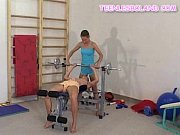 blonde teens working out
