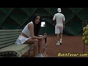 Cocksucking beauty ass banged after tennis