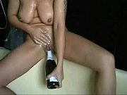 my gorgeous wife playing with bottle. amateur home made
