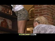 Hot mom seduces her son'_s GF