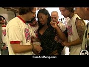 Ebony slut in an amazing gangbang 14 Thumbnail