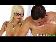 Massage babe rides client