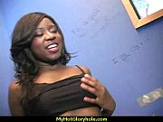 ebony teen shows off her blowjob skills at.