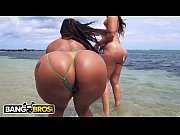 BANGBROS - Latina Lesbians Spicy J &_ Miss Raquel'_s Asstastic Day At The Beach