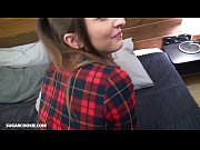 cute teen jimena lago gives her boyfriend a blowjob