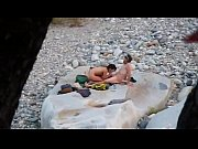 nude horny couple at the river - more.