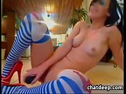 Horny Cam Girl Riding A Purple Toy