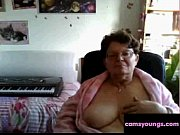 Naughty Granny Flashing Her Big Tits on Cam: Free Porn f6