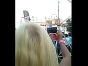 blonde milf get groped in parade