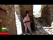 Practicing sex with a fat woman in the ruins of a house. CRI025