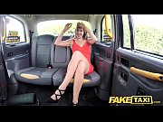 fake taxi lady in short dress gets a.