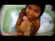 hd bathtub creamthroat throatpie with thai teen heather.