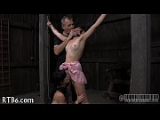 restrained girl is punished