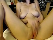 skinny young girl fucks her pussy.