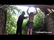 saschas outdoor tit whipping and brutal bizarre domination.