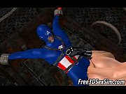 Foxy 3D cartoon babe gets fucked by Captain America