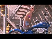 hot motorcycle babe strips for the.
