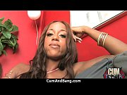 Ebony chick fucked hard in group sex action 6