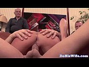 Real wife jizzed in mouth in front of hubby