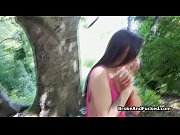 Braless amateur fucks in forest for money