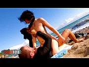 bigtit brunette fucked hard at the beach by.