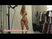 Erotic photoshoot with real czech blonde Thumbnail