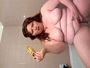 Fat wife self shot video in the bathroom