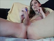 Hungry Tranny Milking her Hard Cock