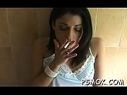 Elegant chick in hot underware likes to tease while smoking