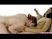 lesbian tgirl pegged by female babe.