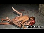 tied up and gagged 3d redhead babe gets.