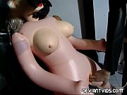 Latex freaks playing with a sex doll Thumbnail