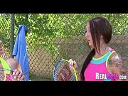 College girls tennis match turns to orgy 140