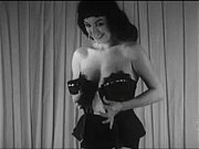 vintage brunette striptease