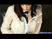euro schoolgirl drenched with hot jizz