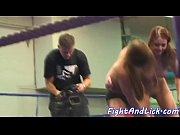 Redhead babe wrestling with euro dyke