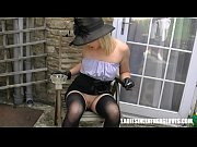 smoking blonde upskirt pussy in leather