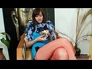 Euro babe Alice got super legs and hot red nylon pantyhose Thumbnail