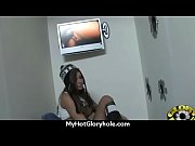 Ebony teen shows off her blowjob skills at gloryhole 14