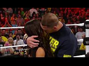 john cena and aj lee kiss - wwe.