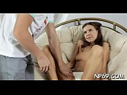 Alluring nubile delights with her wicked pecker engulfing