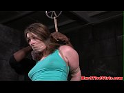 restrained bdsm sub gets toyed by.