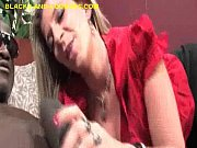 tattooed blonde cougar deepthroat hung black