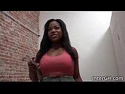 Monique Symone sucking big white cock true a glory hole