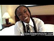 Black school teenie fucking white dude in School Girl Porn Video