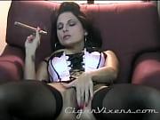 lola lynn smokes a cigar