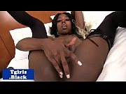 Amateur ebony tranny spreading and wanking