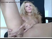 Amazing Blond Teen Camming on an office chair   - combocams.com